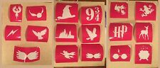 16 New Glitter Tattoo Stencils For Harry Potter Party Hogwarts Hedwig Doe Frog