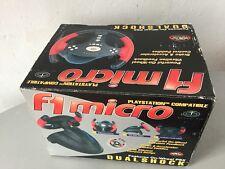 1995# VINTAGE RARE PS1 PLAYSTATION F1 VOLANTE WHEEL DUAL SHOCK STEERING#NIB