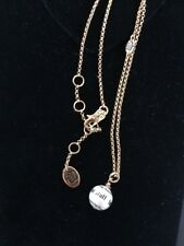 """JUICY COUTURE 2008 Script """"For Nice Girls Who Like Stuff"""" Pearl Charm Necklace"""