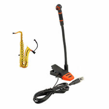 Clip-On Condenser Microphone Gooseneck Mic for Orchestra Saxophone Trumpet Sax