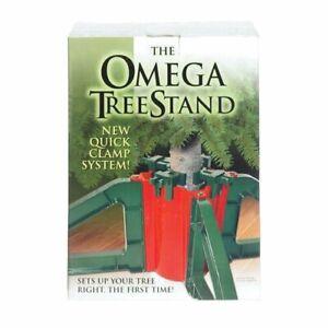 OMEGA Live Christmas Tree Stand Easy Setup No Screws Holds Up To 10'  Tree