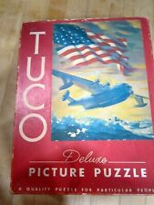 "Vintage TUCO Picture Puzzle ( AIRPLANE) For Victory 16"" x 20""  U.S.A."