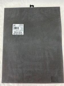 "Darice Mesh # 7 - Black Plastic Canvas 10.5""X 13.5"" Sheet (Free Shipping)"