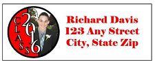30 Graduation Address Labels Stickers YOUR PICTURE & COLORS PERSONALIZE