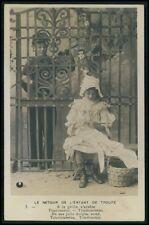 Child Girl Soldier Boy original vintage old 1900s photo postcard Lot Set of 4