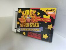KIRBY SUPER STAR Official SNES Display Only Box W/Cardboard Insert NO GAME K44