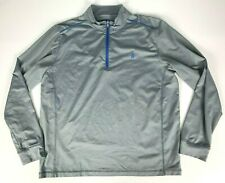 Johnnie O Lammie 1/4 Zip Prep Formance Pullover sz XL Gray Blue