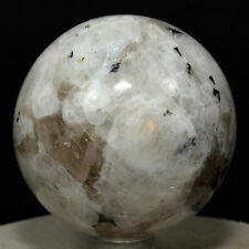 "2.2"" Rainbow Moonstone Sphere Natural Blue Flash Sparkling Crystal Ball - India"