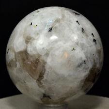 "2.2"" Rainbow Moonstone Sphere Natural Blue Flash Sparkling Crystal Ball - India"