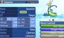 Pokemon Strategy Guide: Shiny Serperior 6IV +Items Customization For Sun/Moon