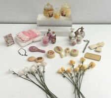 MIXED LOT COLLECTION BEAUTY & BATH PRODUCTS DRESSING TABLE DOLLS HOUSE DOLLHOUSE