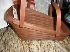 LONGABERGER 2015  NEW RICH BROWN LARGE  VEGETABLE BASKET WITH DRAINER