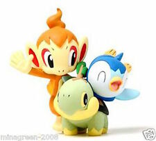 JAPAN NINTENDO POKEMON Diamond Pearl KAIYODO 2006 Figure TURTWIG CHIMCHAR PIPLUP