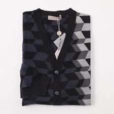 Cruciani Men/'s Navy Blue Cashmere Track Sweater W// Hood EU 50 US M NEW