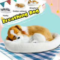 Lifelike Animated Breathing Stuffed Dog Plush Toys Child Home Decor Kids