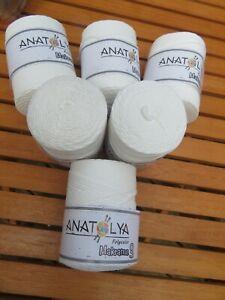 Anatolya Polyester Macrame 3 Craft Knitting Crochet 6 x100grams