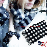 Men Women Scarves Plaid Scarves Wool Scarf Wraps Winter Thin Stripes Scotland