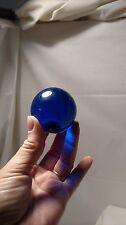 1 cobalt blue glass ball orb US Seller 2 in