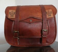 """Motorcycle Saddlebags Side Bag Pouch Brown Leather 12"""" x15"""" x5"""" Panniers 1Bag"""