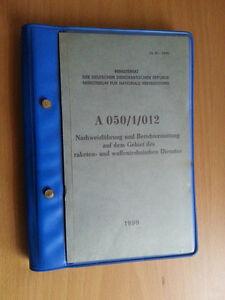 """NVA DDR Dienstvorschrift / Handbuch """" Nachweisführung und Berichterstattung... """""""