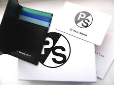 New PAUL SMITH Black Leather Card Holder Wallet BRAND NEW IN BOX