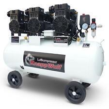 KnappWulf Flüster Kompressor Luftkompressor KW2200 100L Airbrush 69dB Silent