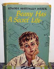 Beany Has a Secret Life, Lenora Mattingly Weber, HCDJ 1st Ed SIGNED 1955