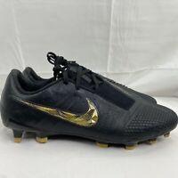 Nike Phantom Venom Elite FG Soccer Cleats Black Gold AO7540-077 Men's Size 7.5.