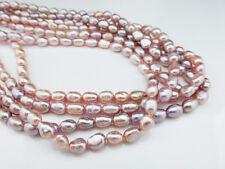 "Pale Dusky Pink Freshwater Rice Pearl Beads 5-6mm -14.5"" (approx 64 pearls)  FP9"