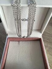 BNIB AUTHENTIC Pandora 19cm MULTI CHAIN 1 CLIP BRACELET + BOX + Cloth NEW