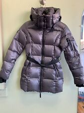 SAM. New York Girls' Soho Belted Puffer Nylon Down Shiny Jacket Coat 14 $275