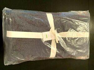 Pottery Barn Velvet Paisley Reversible Quilt in Navy Full/Queen - NEW - $279
