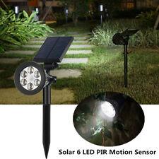 6 LED Solar Light Garden Lamp Spot Outdoor Lawn Landscape Spotlight Pure White