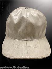 Genuine White Cobra Snakeskin Baseball Cap Hat ### NEW