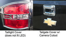 2014-2016 GMC Sierra Taillight + Tailgate Covers Chrome