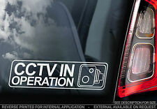'CCTV In Operation' - Window Sticker -  In-Car, Home, Decal Camera Security Sign