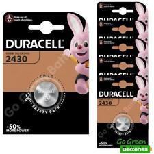 6 x Duracell CR2430 3V Lithium Coin Cell Battery DL2430 K2430L ECR2430