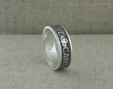 IRISH STERLING SILVER Gaelic Claddagh Wedding Ring Love Loyalty Friendship Boru