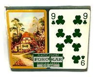 WONDERFUL VINTAGE FORCOLAR 1947 DOUBLE DECK PLAYING CARDS IN BOX CASE VERY GOOD