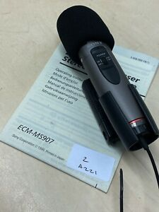 Sony ECM-MS907 Condenser Cable Consumer Microphone + wind muff