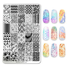 NICOLE DIARY Nail Stamping Plate Flower Heart Images Nail Art Templates L07