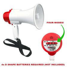 More details for new portable speaker megaphone strap pistol grip loud speaker and record play