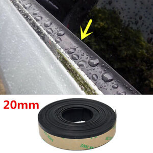 13FT Rubber Car Side Door Window Glass Seal Weatherstrip Rain Visor Universal 1x