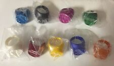 GREEN LANTERN PROMO RING SET OF 9 BLACKEST NIGHT BLUE ORANGE YELLOW SAPPHIRE RED