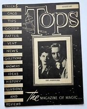 August 1947 Tops Magic Magazine Lots of Tricks and Magic Ads