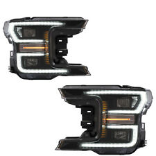 VLAND ALL LED Blackout Headlights Fit For Ford F-150 F150 2018 2019 Assembly