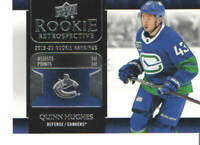 2020-21 UD Upper Deck Rookie Retrospective Singles #RR1-RR15 You Pick From List!