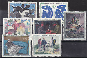 france 1961,62 paintings,Sc 1014/7,1049/51 two sets MH    s2272