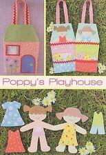 POPPY's PLAYHOUSE - Sewing Craft PATTERN - Soft Toy Felt Rag Doll Bear