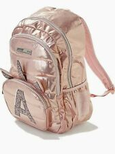 A B K L M N P S V X JUSTICE Girls Rose Gold Unicorn Initial Backpack Pink NEW